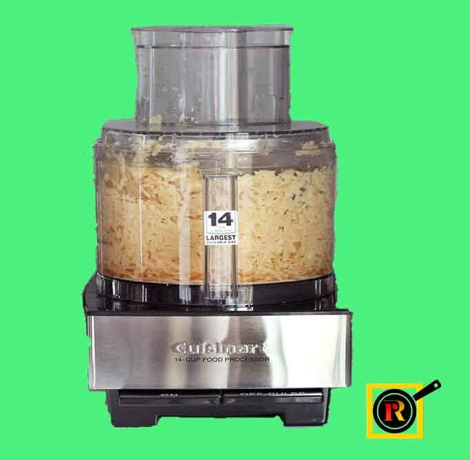 chopping onions in food processor